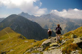 Trekking in romanian carpathians — Stock Photo
