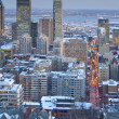 Downtown skyline montreal at dusk — Stock Photo