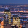 Downtown skyline montreal river — Stock Photo