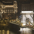 Stock Photo: Budapest chain bridge night