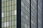 Office building window pattern overcast — Stock Photo