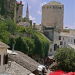 Old medieval town of mostar, bosnia — Stock Photo