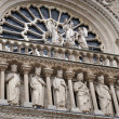 Stock Photo: Notre dame cathedral detail paris