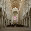 Stock Photo: Interior gothic church of laon
