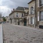 stad plein oude Franse stad — Stockfoto