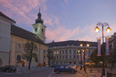 Main square Sibiu town — Stock Photo