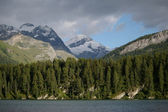 Glacier and mountain lake — Stock Photo