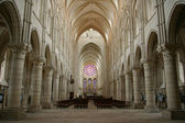 Interior gothic church of laon — Stock Photo