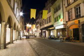 Old town strassbourg by night — Stock Photo
