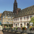 Stock Photo: Bridge in old town strassbourg cathedral