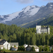 Stock Photo: Hotel building in mountain resort davos