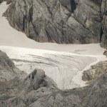 Glacier limb in austrian mountain alps — Stock Photo