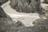 Glacier limb in austrian mountain alps — Stock Photo