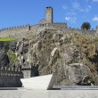 Stock Photo: Fortress in switzerland town on rock
