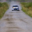 Rally car on gravel road — Stock Photo