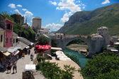 Mostar bridge in bosnia — Stock Photo