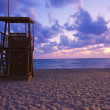 Stock Photo: Lifeguard hut at dawn