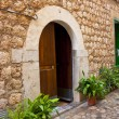 Old style mediterranean house door — Stock Photo