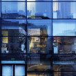 Abstract office window reflections — Stock Photo