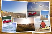 British summer beach — Stock Photo