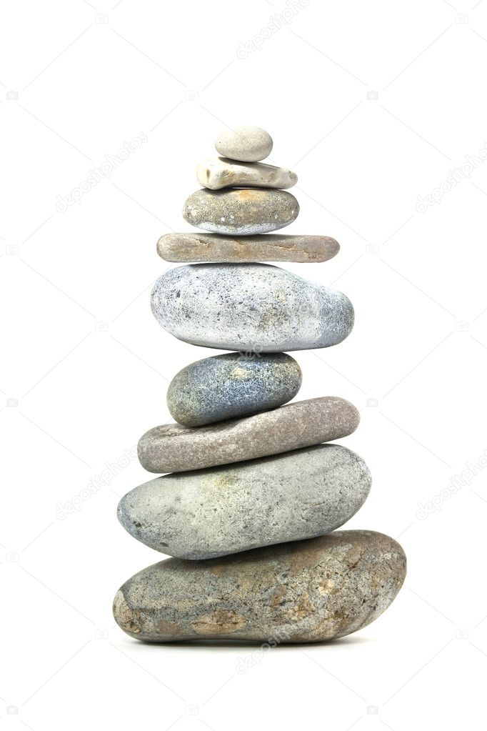 Stone tower of rocks from the beach — Stock Photo #1972553