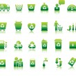 Eco icon set - Stockvectorbeeld
