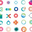 Royalty-Free Stock Imagen vectorial: Abstract logo shapes