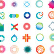 Royalty-Free Stock Vektorgrafik: Abstract logo shapes