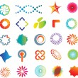 图库矢量图片: Abstract logo shapes