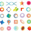 Abstract logo shapes — Image vectorielle