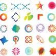 soyut logo şekilleri — Stok Vektör