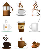 Coffee illustration set — Stock Vector