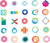 Abstract logo shapes — Stockvector