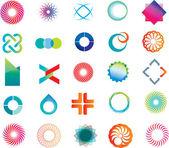 Abstract logo shapes — Stock Vector