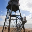 Upper lighthouse in dovercourt - Stock Photo