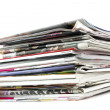 Stack of newspapers and magazines — Stock Photo #1998947