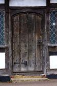 Tudor house door — Stock Photo