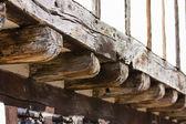 Tudor house beams — Stock Photo