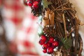 圣诞花环关门 — 图库照片