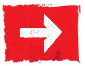 Red grunge forward arrow — Stock Photo