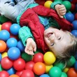 Постер, плакат: Ball pool boy