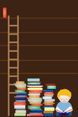 Tom bibliotekets hyllor — Stockfoto