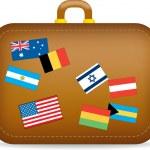 Suitcase travel — Stock Photo