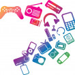 Stock Photo: Electronic entertainment illustration