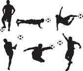 Soccer silhouettes — Stock Photo
