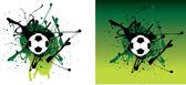 Green grunge football — Stock Photo