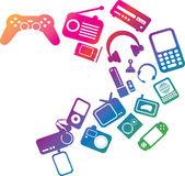 Electronic entertainment illustration — Stock Photo