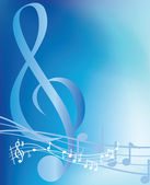 Blue musical notes — Stock Photo