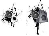 Speaker grunge illustration — Stock Photo