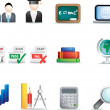 Education icon set — Stock Photo